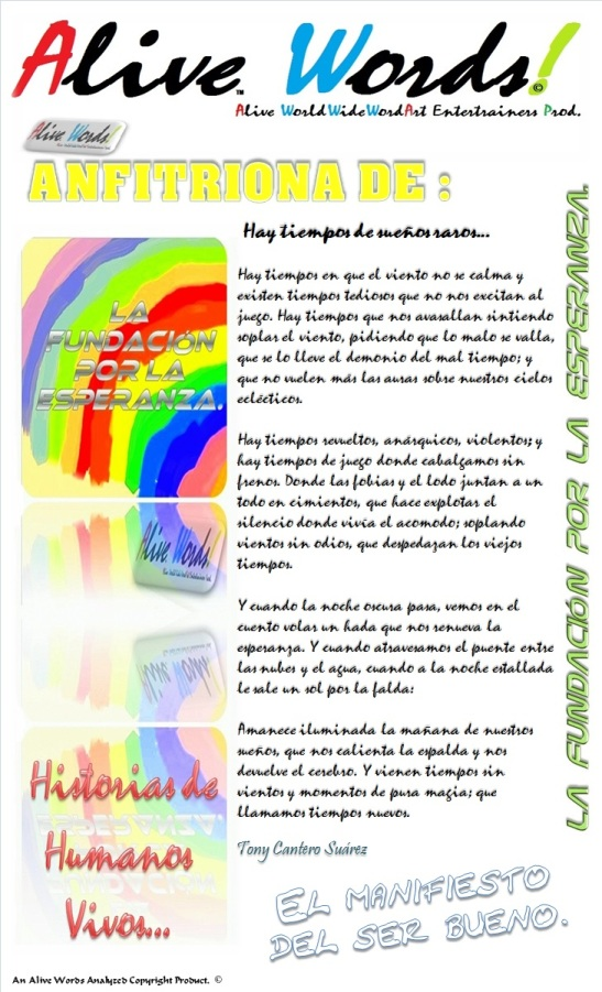 LA FUNDACION POR LA ESPERANZA - CARTEL - ALIVE WORDS.