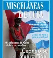 Mi prosa poética ¿Cuba, te hablo, me escuchas? en nuevo numero de la Revista Misceláneas de Cuba.