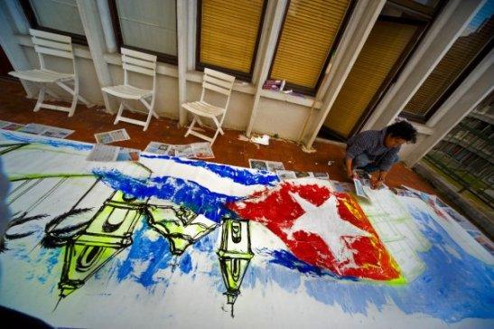 Asta a la vista bandera, libre onderás en mis letras, Yendri Patterson by Ariel Arias for Tony Cantero Suárez