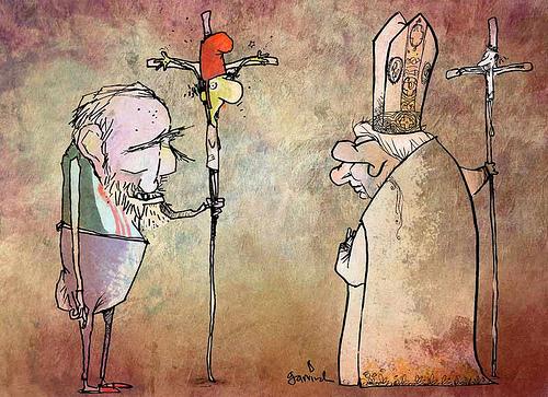 Disidente cubano frente al papa