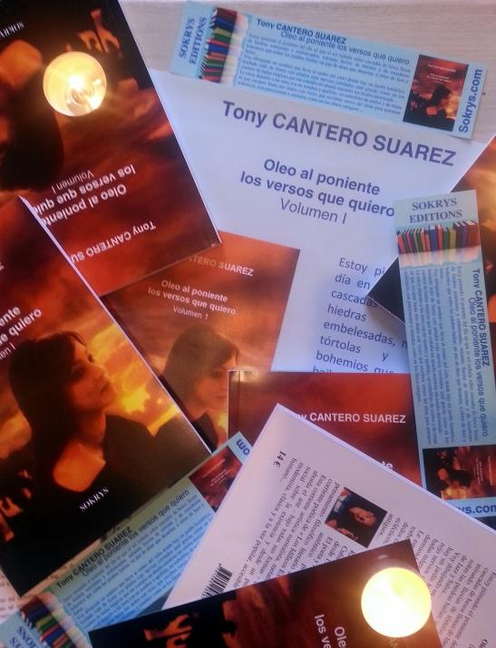 Afiche Oleo al Poniente - Los Versos que quiero by Tony Cantero Suárez