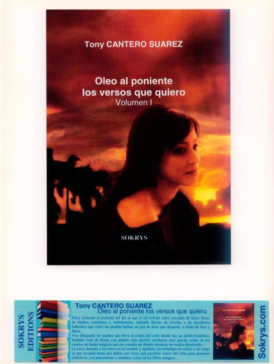 I - Oleo al poniente - Los versos que quiero - Afiche caratula del Libro