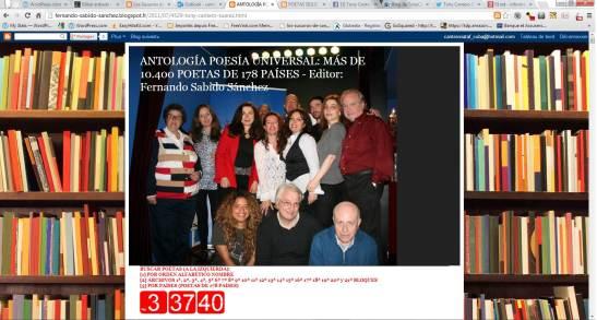 ANTOLOGÍA POESÍA UNIVERSAL MÁS DE 10.400 POETAS DE 178 PAÍSES - Editor Fernando Sabido Sánchez