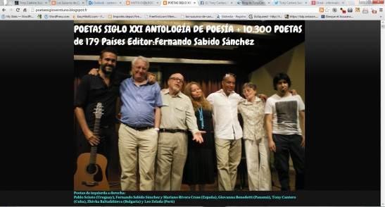 POETAS SIGLO XXI ANTOLOGÍA DE POESÍA + 10.300 POETAS de 179 Países Editor Fernando Sabido Sánchez