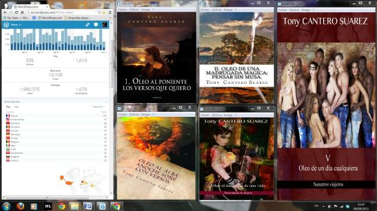 Web del Idílico Existencialista, almost tow millions of visitors in only 24 months & 5 lyrics books at the same time.