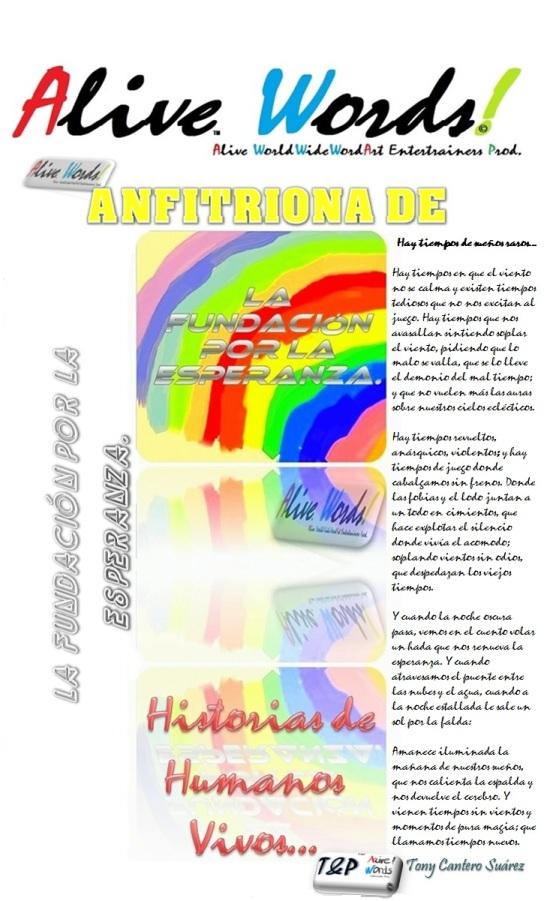 PUBLICIDA DE LA FUNDACION POR LA ESPERANZA PATROCINADA POR ALIVE WORDS by Tony Cantero Suárez