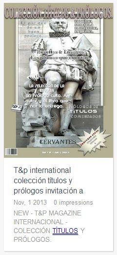 T&P International Colección Títulos y Prólogos - Invitación a Profesionales cover icon
