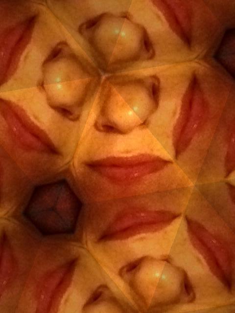 La boca de la fruta de la pasión