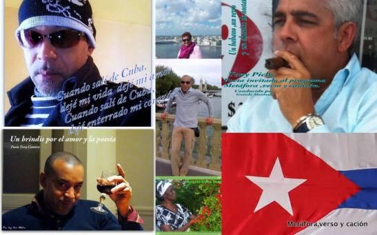 Poster de Tony Cantero Suárez & Tony Pichs por Guisela Noemy Montolla Ponletez - Programa Metáfora, Verso y Canción - Ciudad Radio de Mx.