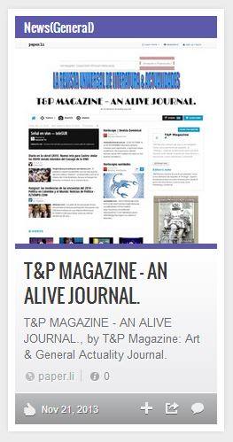 T&P MAGAZINE – AN ALIVE JOURNAL.