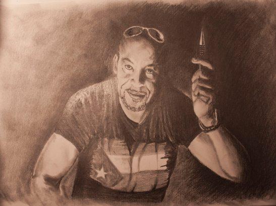 Retrato a grafito de Tony Cantero Suárez por Eduardo Expósito 03-2014