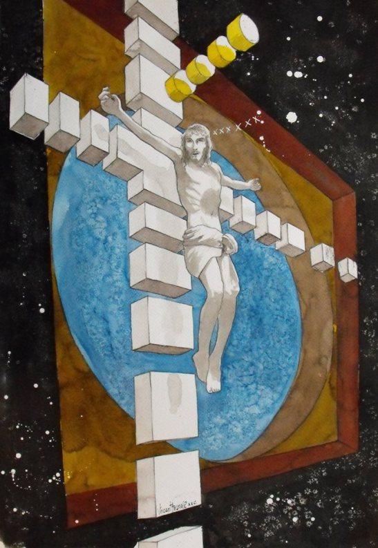 El Cristo en el ocaso de su orbita by Vincent Tessier
