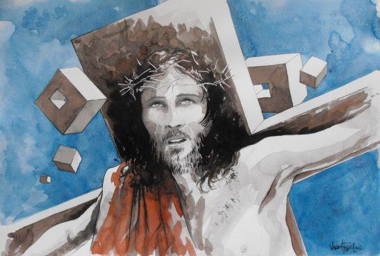 Le vol de Jésus sous la croix - by Vincent Tessier for Tony Cantero Suárez