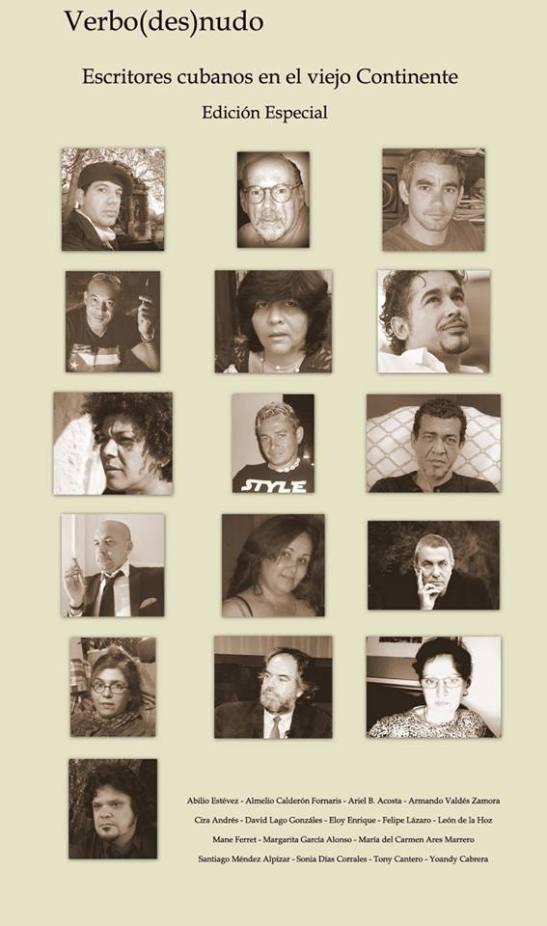 Escritores cubano en Europa invitados a la edición especial de la Revista de la Editorial Verbo Desnudo.