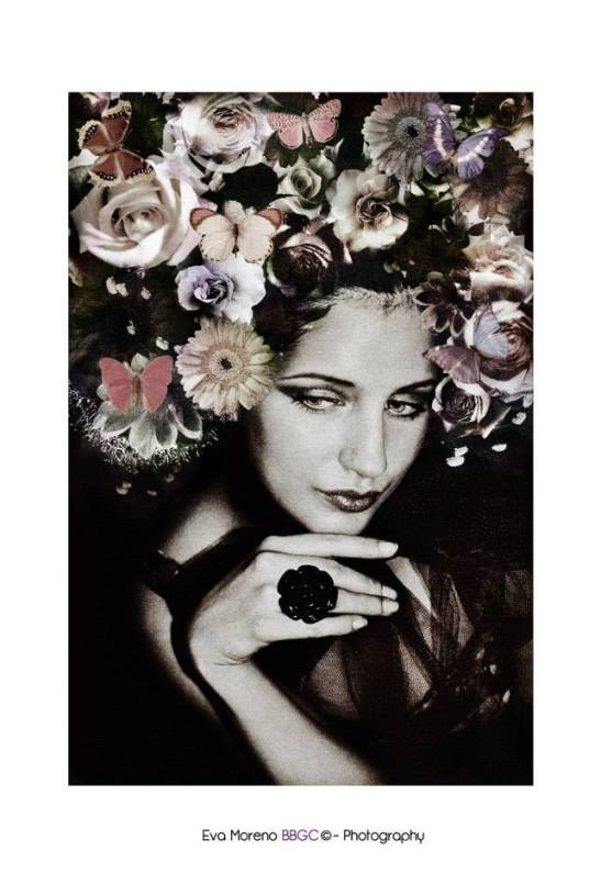 Breathe and smell the perfume of flowers New romantic Elodie Photo and artistic work Eva Moreno BBGC-Copyright — with Elodie Prz.