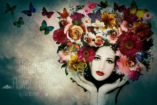 Breathe and smell the perfume of flowers New romantic Elodie -  Photo and artistic work Eva Moreno BBGC-Copyright — with Elodie Prz.