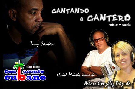El Idílico Existencialista afiche del programa radial Cantando a Cantero de Radio Online Con Acento cubano.