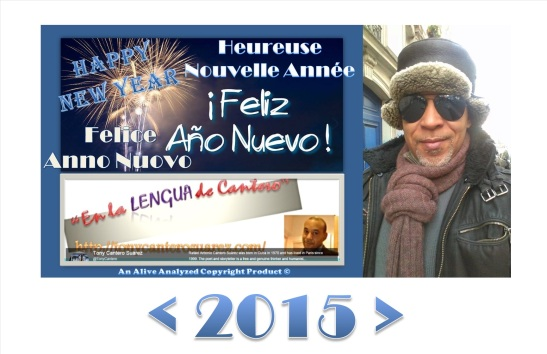Afiche HAPPY NEW YEAR 2015 BLOG DE TONY CANTERO SUAREZ