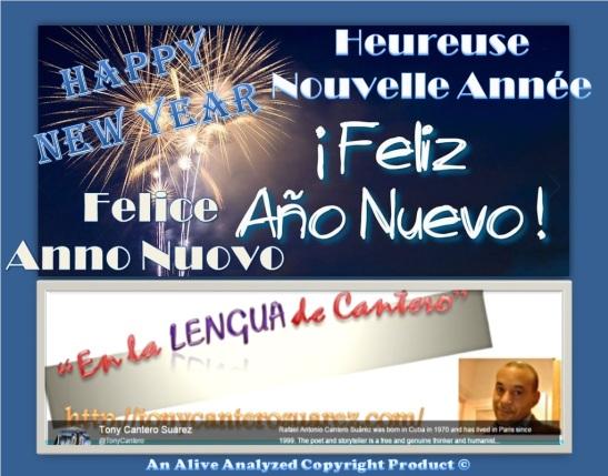 Feliz año nuevo - afiche