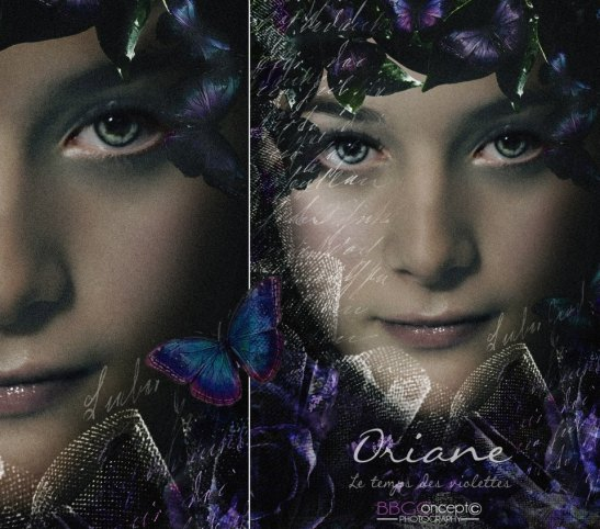 New romantic, le temps des violettes, Dark Romance Modèle Oriane Gidron Photo Art by Eva Moreno BBGC -Copyright