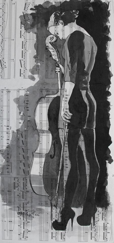La Diva y el violoncelo by Vincent Tessier