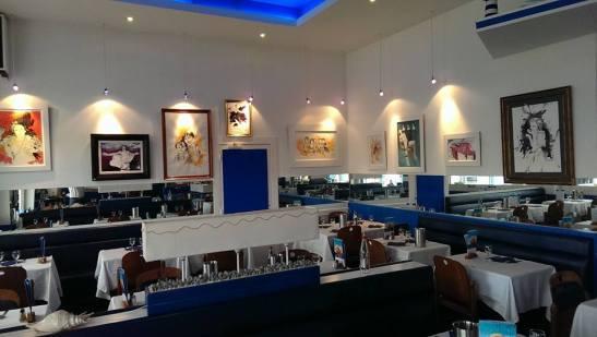 Toiles de Vincent Tessier au Restaurant Brasserie de l'Ocean