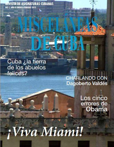 CARATULA REVISTA MISCELANEAS DE CUBA ENERO FEBRERO 2015