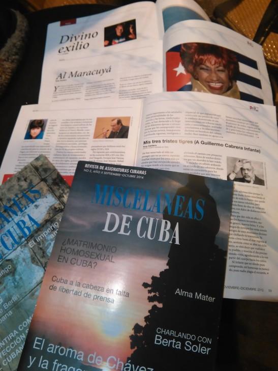 Foto de revistas Misceláneas de Cuba con Tony Cantero Suárez
