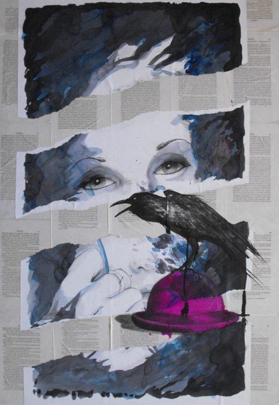 Mirada de cuervo sediento by Vincent Tessier