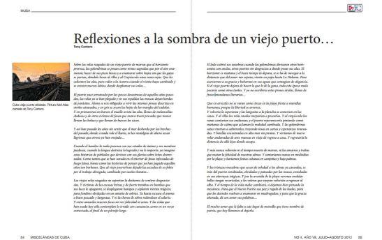 Reflexiones a la sombra de un viejo puerto de Tony Cantero Suárez en Misceláneas de Cuba