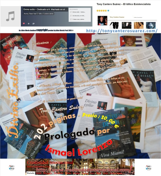 Afiche Numero 2 de Divino Exilio Copyright 2015 Tony Cantero Suárez