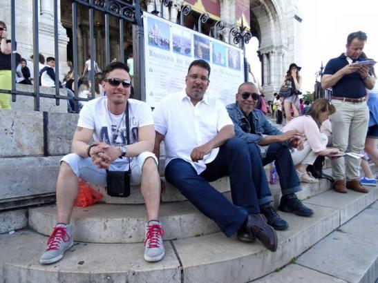 Tony Miky & Douglas en Montmartre
