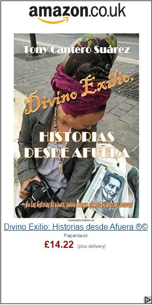 Divino Exilio by Tony Cantero Suárez Amazon UK advertising banner by Amazon - Formato grande