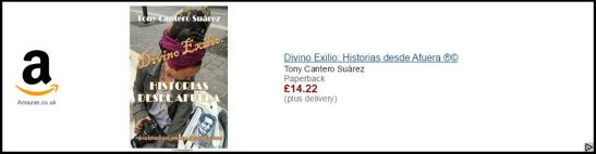 Divino Exilio by Tony Cantero Suárez Amazon UK advertising big banner by Amazon uk