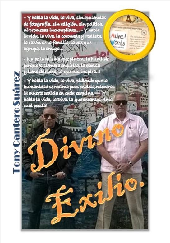 Medidas 2067x2953 Back Cover Divino Exilio Tony Cantero Suárez Copyright 2015
