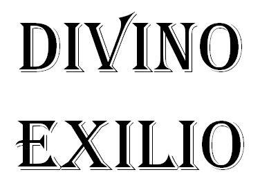 Titulo del libro Divino Exilio de Tony Cantero Suarez