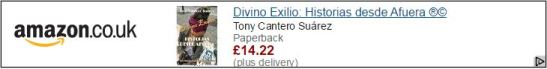 Divino Exilio by Tony Cantero Suárez Amazon UK advertising banner by Amazon - Formato pequeño