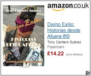 Divino Exilio by Tony Cantero Suárez Amazon UK advertising banner by Amazon