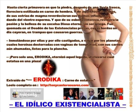 Afiche Erodica - Tony Cantero Suárez