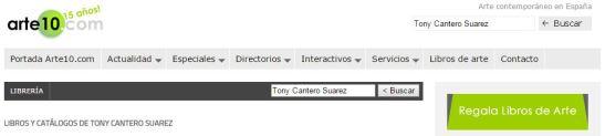 Arte10.com logo - Libros de Tony Cantero Suarez