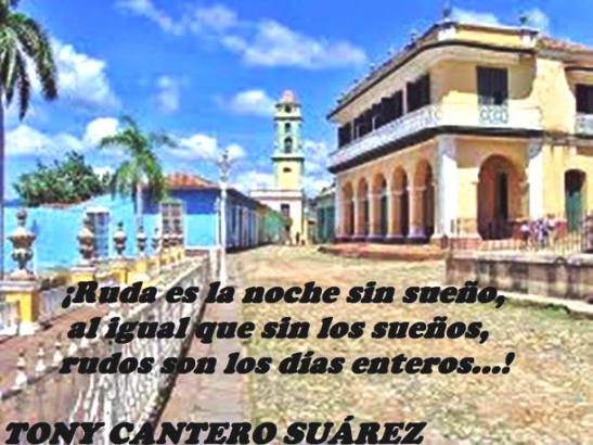 Afiche blog huellas del poeta con frase de Tony Cantero Suarez