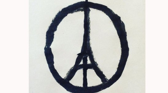 Attentats a Paris - peace for Paris - dessin symbole de la solidarite