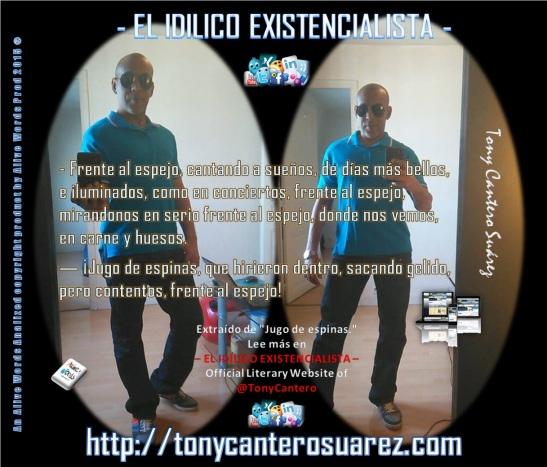 Afiche Jugo de espinas, frente al espejo - Copyright Alive Words Prod Tony Cantero Suarez