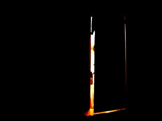 Open door dark room