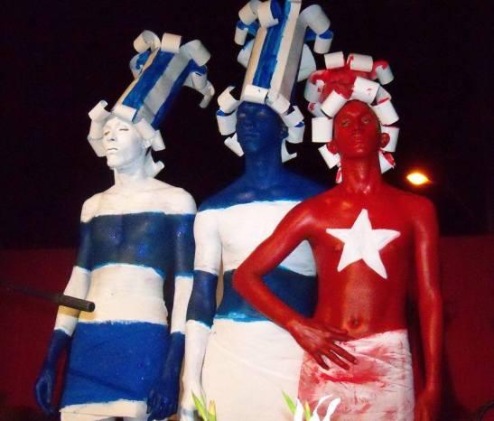 cubanos en yeso