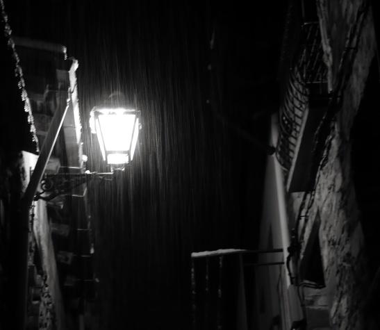 La luz de la noche sola