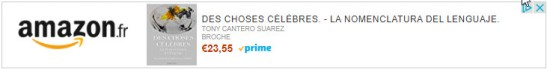 Des choses celebre by Tony Cantero Suarez - banner amazon