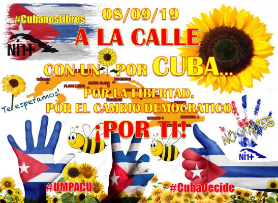 Marcha de los girasoles 080919 oposición Cuba por Tony Cantero Suárez