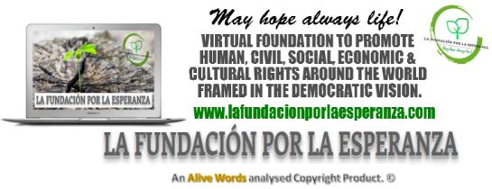 La Fundacion por la esperanza - banner publicitario